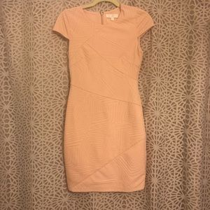 Women's MM Couture Pink Textured Pencil Dress
